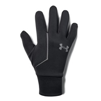 Under Armour MENS CGI RUN LINER GLOVES - BLACK