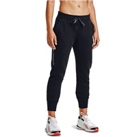 Under Armour WOMENS RIVAL FLEECE EMB TRACK PANTS - BLACK