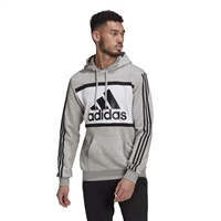 Adidas MENS COLORBLOCK LOGO HOODIE - GREY/WHITE