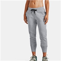 Under Armour WOMENS RIVAL FLEECE EMB TRACK PANTS - GREY