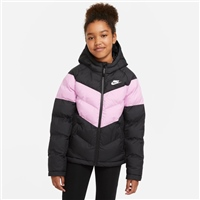 Nike CHILDRENS NSW SYNTHETIC FILL JACKET - BLACK/PINK