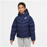 Nike CHILDRENS NSW SYNTHETIC FILL JACKET - NAVY/WHITE