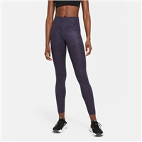 Nike WOMENS NIKE ONE LUX HTR TIGHTS - NAVY