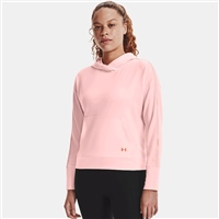 Under Armour WOMENS RIVAL TERRY TAPED HOODIE - PINK