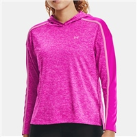 Under Armour WOMENS TECH TWIST GRAPHIC HOODIE - PINK