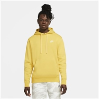 Nike Mens Pull Over Club Hoodie - SUNFLOWER YELLOW