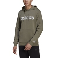 Adidas MENS LINEAR FT PULLOVER HOODIE - GREEN/WHITE