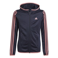 Adidas GIRLS 3S FULL ZIP HOODIE - NAVY/PINK