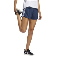 Adidas WOMENS PACER 3S KNIT SHORTS - NAVY/WHITE