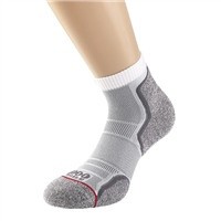 1000 Mile MENS RUN ANKLET SOCK (TWIN PACK) - WHITE/GREY