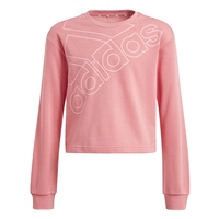 Adidas GIRLS LOGO SWEATSHIRT - PINK