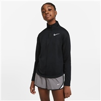 Nike GIRLS RUN LS HALF ZIP TOP - BLACK