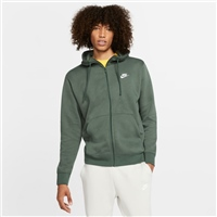 Nike MENS CLUB FULL ZIP HOODIE BB - GREEN