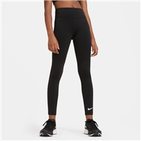 Nike GIRLS ONE LEGGINGS HIGH WAIST - BLACK