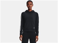 Under Armour WOMENS RIVAL TERRY TAPED HOODIE - BLACK