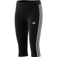 Adidas GIRLS 3S 3/4 TIGHTS - BLACK/WHITE