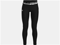 Under Armour GIRLS HG ARMOUR LEGGINGS - BLACK/WHITE