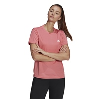 Adidas WOMENS DIGNED 2 MOVE AEROREADY T-SHIRT - PINK/WHITE