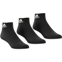 Adidas CSHIONED ANKLE SOCK (3PK) - BLACK