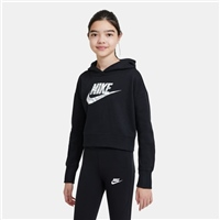 Nike GIRLS NSW CROP HOODIE - BLACK