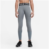 Nike GIRLS PRO LEGGINGS - GREY/WHITE