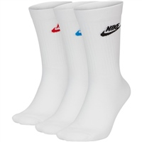 Nike EVERYDAY ESSENTIAL CREW SOCK (3PK) - WHITE/VARIOUS