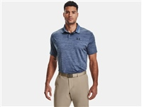 Under Armour MENS TEXTURED PERFORMANCE POLO - BLUE