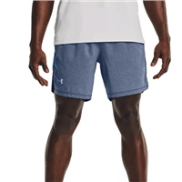"Under Armour MENS LAUNCH RUN 7"" SHORTS - ACADEMY BLUE"