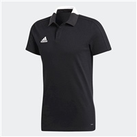 Adidas Condivo 18 Cotton Polo - BLACK/WHITE