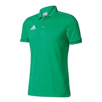 Adidas Tiro 17 Cotton Polo - GREEN/BLACK/WHITE