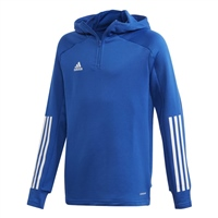 Adidas Condivo 20 Hooded Track Top Youth - ROYAL/WHITE