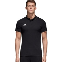 Adidas Condivo18 Cotton Polo - BLACK/WHITE