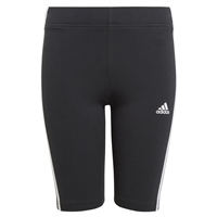 Adidas GIRLS ESSENTIALS 3 STRIP SHORT TIGHTS - BLACK/WHITE