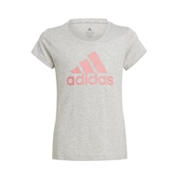 Adidas GIRLS  ESSENTIALS T-SHIRT - GREY/PINK