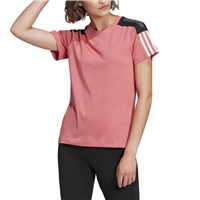 Adidas WOMENS COLORBLOCK LINEAR T-SHIRT - PINK/WHITE