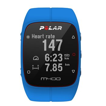 Polar M400 GPS Running Watch with Heart Rate Monitor - Blue  - Click to view a larger image