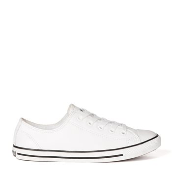 Chuck Taylor All Star Dainty Leather Ox White 4 White