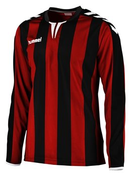 2434e6424 Hummel Core Stripe Long Sleeve Jersey - Black Red - Click to view a larger