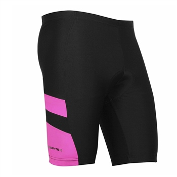 Optimum Ladies Nitebrite Cycling Shorts - Black/Fluoresent Pink  - Click to view a larger image