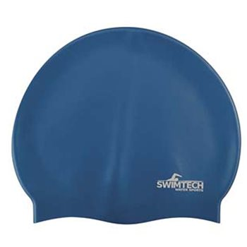 SwimTech Silicone Swim Cap - Navy  - Click to view a larger image