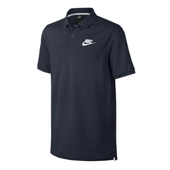 Nike Mens Sportswear Pique Polo Matchplay -  Navy/White  - Click to view a larger image