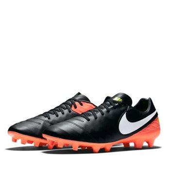 pretty nice c2ba4 90580 Tiempo Mystic V Firm Ground Football Boots - Black/Orange/Volt/White - 9 -  Black/Orange/Volt/White