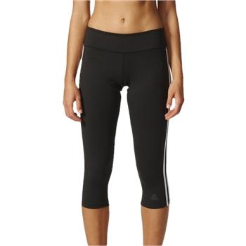 3d501245a306e Adidas Womens D2M 3 Stripe 3/4 Tights - Black/White | AllSportStore.com
