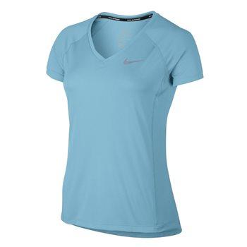 Nike Womens Dry Miler V Neck Top -  Sky