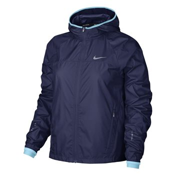 Nike Womens Running Jacket HD Shield -  Navy/Sky  - Click to view a larger image