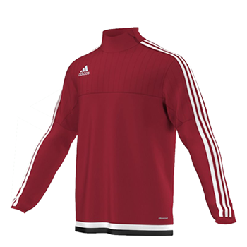 Adidas Tiro15 TRG Top Yth - Red  - Click to view a larger image