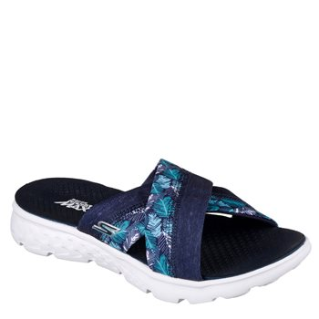 Skechers Womens On The Go Tropical Sandles - NVY Navy