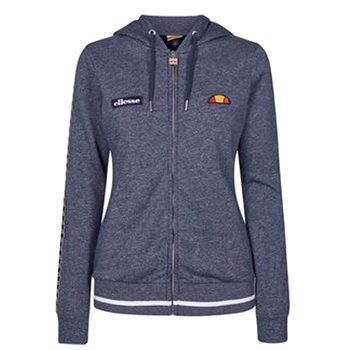 Ellesse Womens Cicoria FZ Cropped Hoody - Blue Marl  - Click to view a larger image
