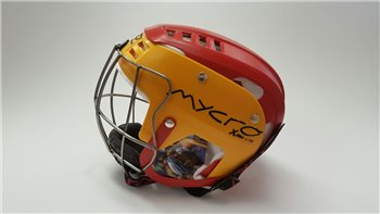 Mycro Two Tone Hurling Helmet - Red/Yellow  - Click to view a larger image