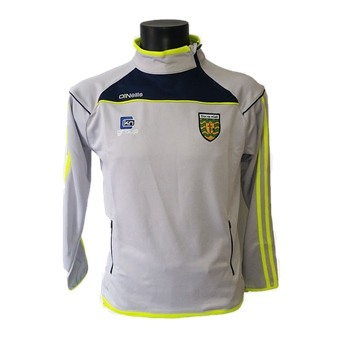 ONeills Donegal Aston Side Zip Squad Top - Silver/Marine/Flo.Yel  - Click to view a larger image
